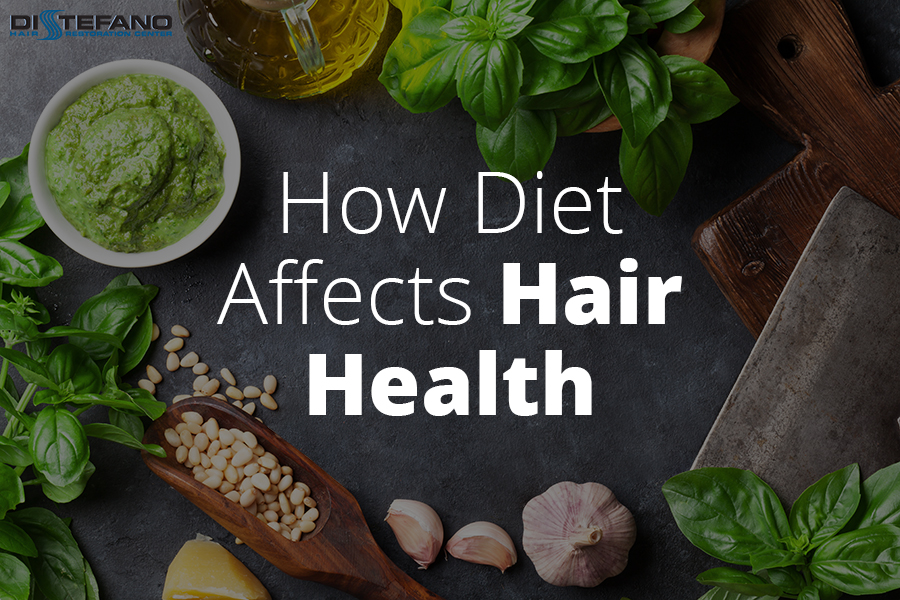 Ingredients with the words 'How Diet Affects Hair Health'